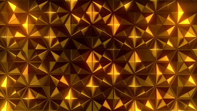 abstract seamless loop animation of gold honeycomb metallic pattern for motion graphic design. 3d rendering. 4k, uhd - man made object stock videos & royalty-free footage