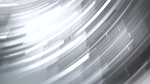 abstract shapes background (white) - loop - silver coloured stock videos & royalty-free footage