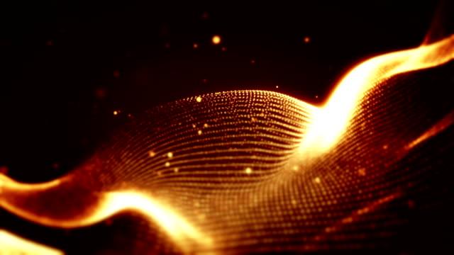 Abstract shapes wavy loop