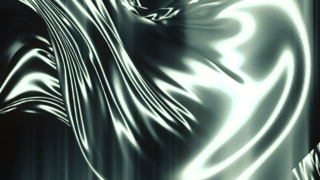 abstract shiny metallic cloth. slow motion animation background. 3d rendering. 4k, ultra hd resolution - design element stock videos & royalty-free footage