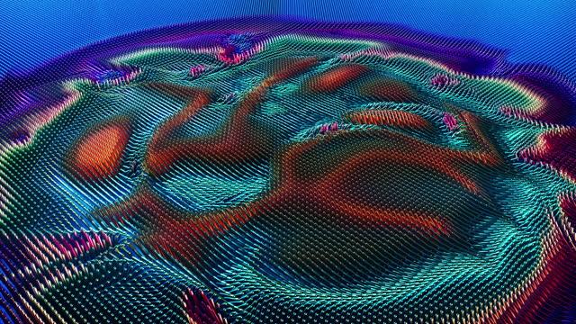 modello astratto di onde d'urto che si muove attraverso cubi geometrici - design element video stock e b–roll
