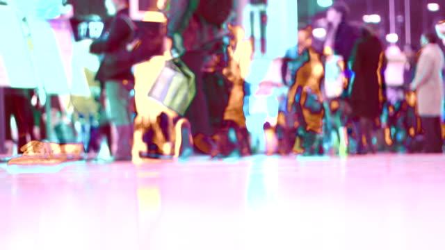 Abstract shot of travel commuters, seamless loop. HD, NTSC, PAL