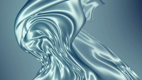 abstract silver shiny metallic cloth. slow motion animation background. 3d rendering. 4k uhd - silk stock videos & royalty-free footage