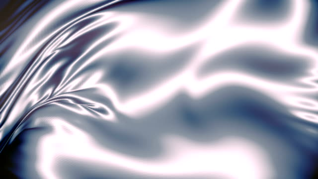 abstract silver shiny metallic cloth. slow motion animation background. elegant decoration. 4k, ultra hd resolution - silver coloured stock videos & royalty-free footage