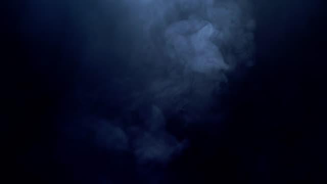 抽象的な煙の雲、すべての動きがぼやけ、意図がフォーカスを外します - 幽霊点の映像素材/bロール