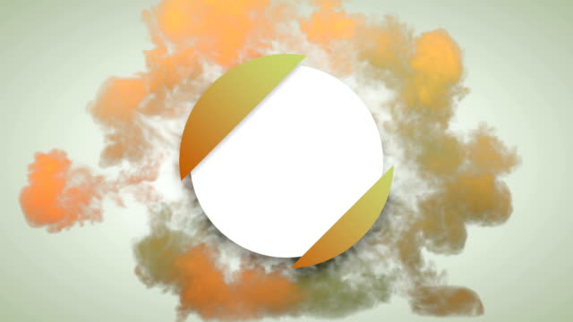 abstract smoke shockwave explosion reveal of geometric circle badge with alpha matte channel for placing your text or logo. motion graphics. 3d render loop animation. 4k, ultra hd resolution - alpha channel stock videos & royalty-free footage