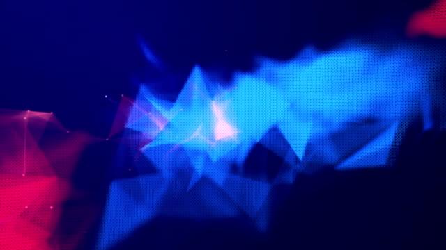 vídeos de stock e filmes b-roll de abstract space particles background - smoke physical structure