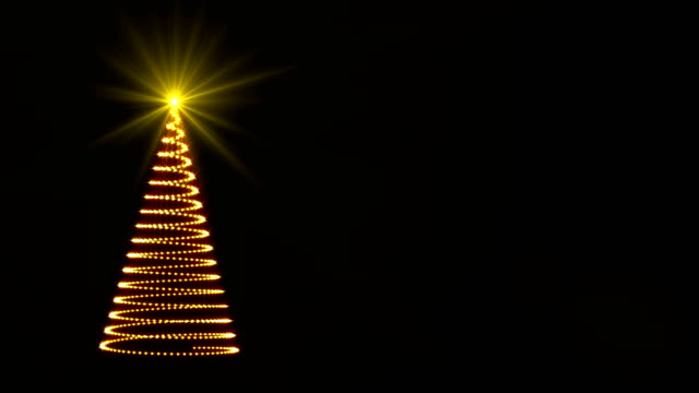 abstract sparkling lights christmas tree - ornament stock videos and b-roll footage