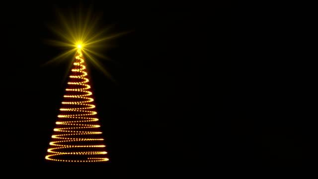 stockvideo's en b-roll-footage met abstracte mousserende lichten kerstboom - kerstversiering