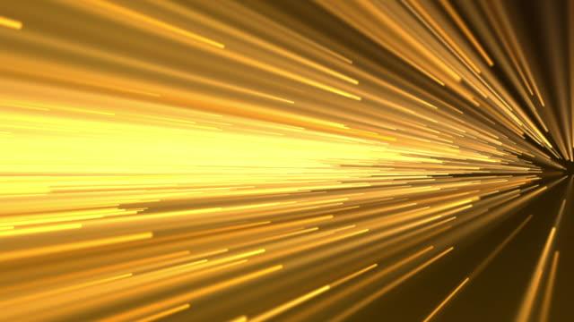 vidéos et rushes de motion de vitesse abstraite en or - mèche colorée