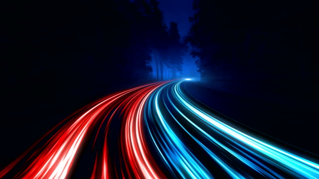 4k abstract speed motion in highway road - fire natural phenomenon video stock e b–roll