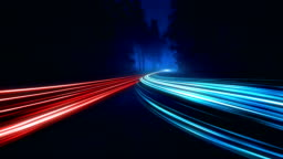 4K Abstract Speed motion in highway road