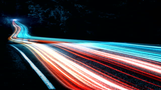 4k abstract speed motion in highway road - velocità video stock e b–roll