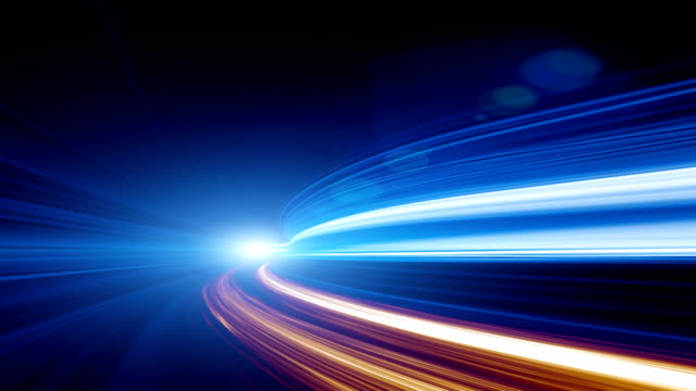 abstract speed motion in highway tunnel - igniting stock videos & royalty-free footage