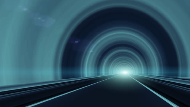 abstract speed motion in highway tunnel - striped stock videos and b-roll footage