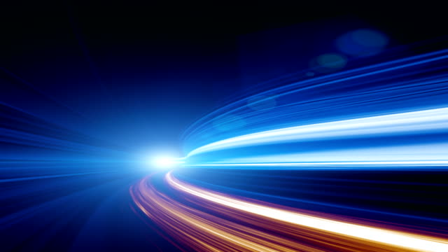 abstract speed motion in highway tunnel - raggio di sole video stock e b–roll