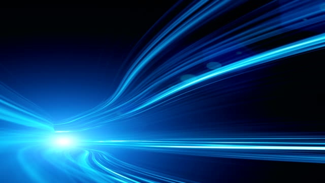 abstract speed motion in highway tunnel - the way forward stock videos and b-roll footage