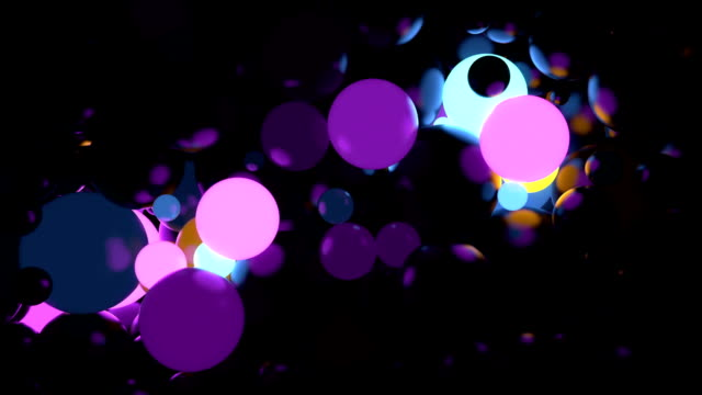 Abstract sphere background random glow