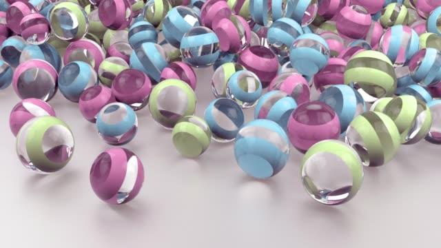 4k 抽象的な球体ガラス。 - ball点の映像素材/bロール