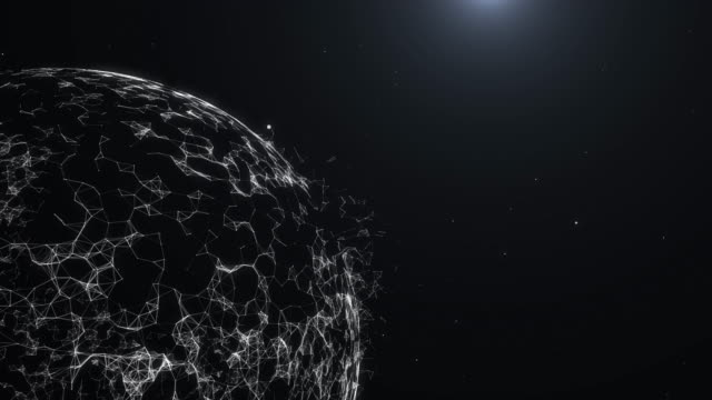 vídeos y material grabado en eventos de stock de esfera o tierra gire loop ciclo plexo mundo abstracto - efecto de luz