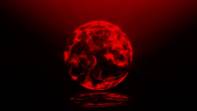 vídeos de stock, filmes e b-roll de esfera abstrata - bola plasma