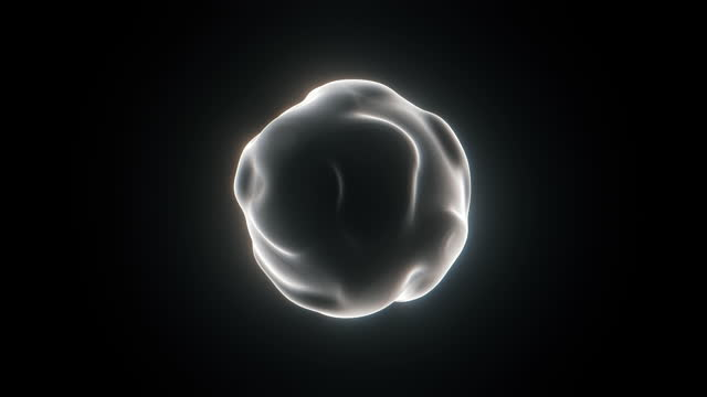abstract spherical form isolated on black background - black background stock videos & royalty-free footage