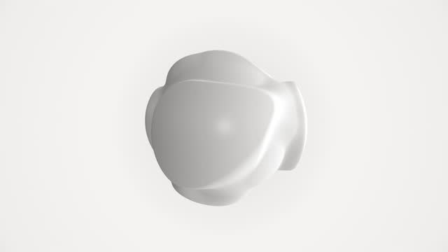 abstract spherical form isolated on white background - twisted stock videos & royalty-free footage