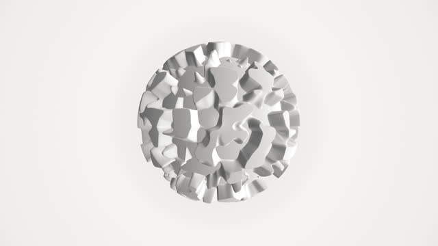 vidéos et rushes de forme sphérique abstraite d'isolement sur le fond blanc - bombe