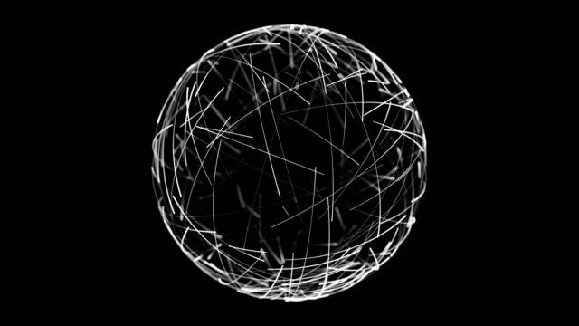 abstract spherical network background - computer network stock videos & royalty-free footage