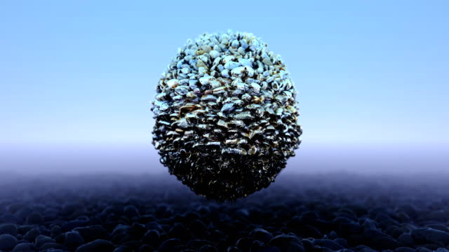 abstract spinning pebble ball - pebble stock videos & royalty-free footage
