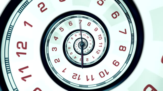 abstract spiral clock (centered) - loopable - spiral stock videos and b-roll footage