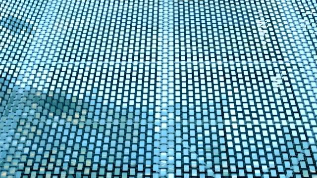 vídeos de stock, filmes e b-roll de abstrato quadrado metal aço - aço