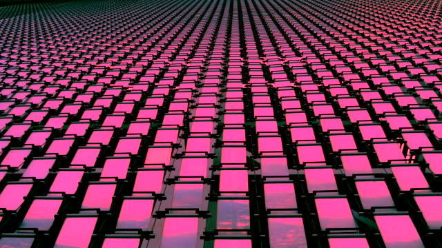 Abstract square plate reflection - Pink