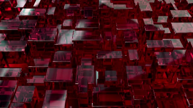 vídeos y material grabado en eventos de stock de fondo 3d abstractos cuadrados - cubo recipiente