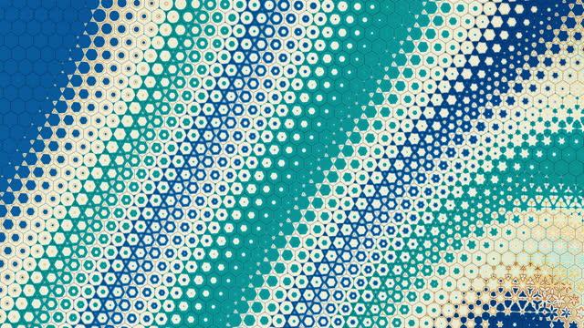 stockvideo's en b-roll-footage met abstracte ster vorm hexagon achtergrond - loopable modern ontwerp - star shape