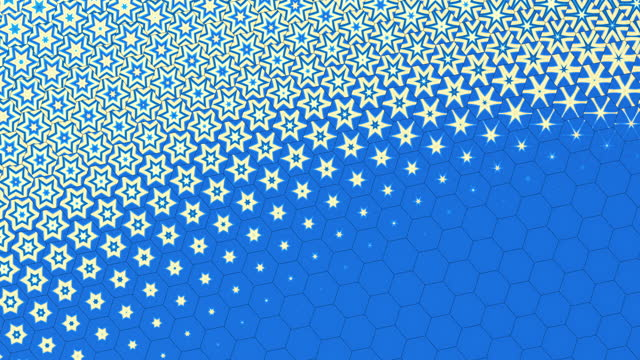 abstract star shape hexagon background - loopable modern design - seamless pattern stock videos & royalty-free footage