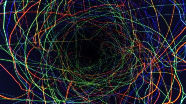 sfondo traccia stringa astratta - morphing video stock e b–roll