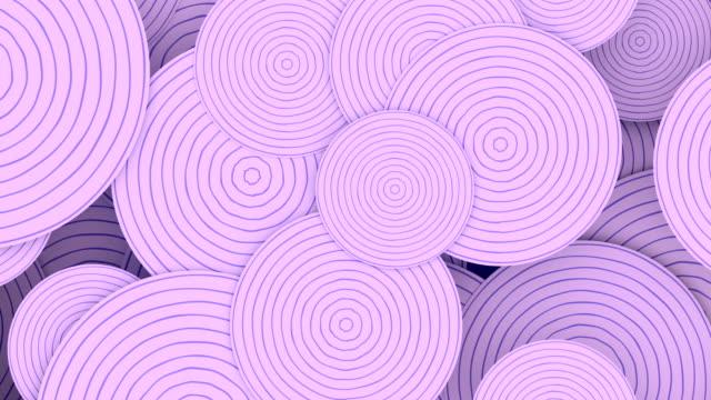 vidéos et rushes de motif abstrait de cercles rayés pour la conception graphique de mouvement. animation en boucle sans couture numérique. rendu 3d. résolution hd - éternité