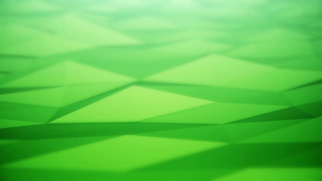 vídeos de stock e filmes b-roll de abstract surface background (green) - loop - modelação low poly