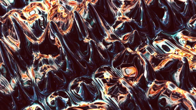 abstract surface made of metallic, shiny plasma - surrealism stock videos & royalty-free footage