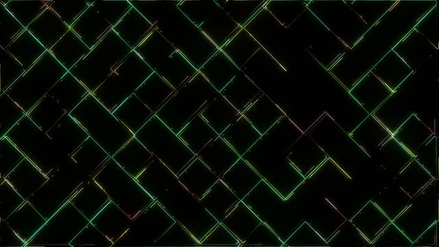 abstract techno background, retro style futuristic looping background, square shapes moving lines - grid stock videos & royalty-free footage