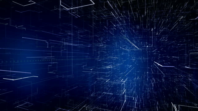 abstract technological background texture. loopable - dark blue stock videos & royalty-free footage