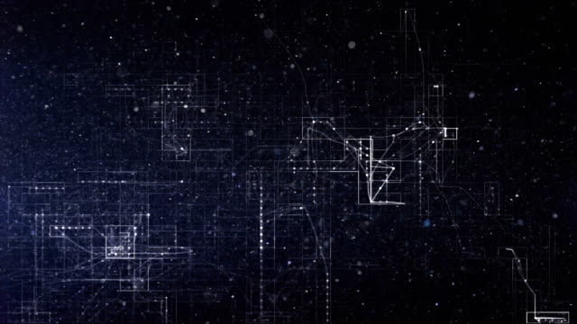 abstract technological lines background - spotted stock videos & royalty-free footage