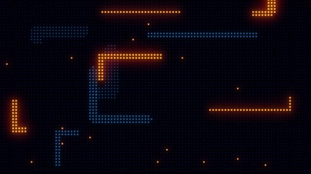 abstract technology background of led screen particles. circuit light animation. (loopable) - simplicity stock videos & royalty-free footage