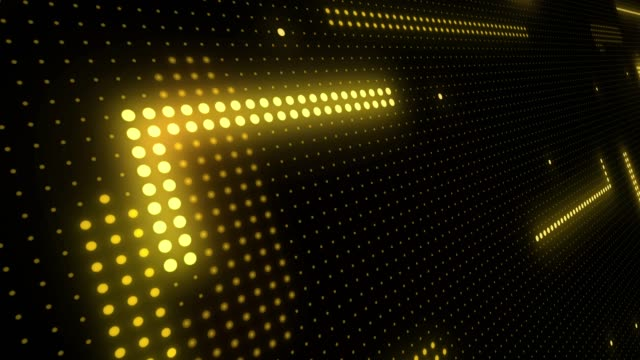 abstract technology background of led screen particles. circuit light animation. (loopable) - yellow stock videos & royalty-free footage