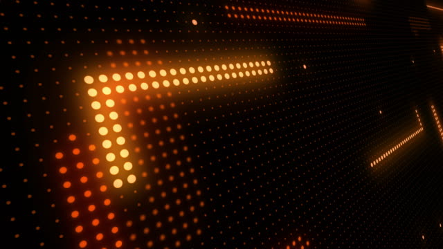 abstract technology background of led screen particles. circuit light animation. (loopable) - spotted stock videos & royalty-free footage