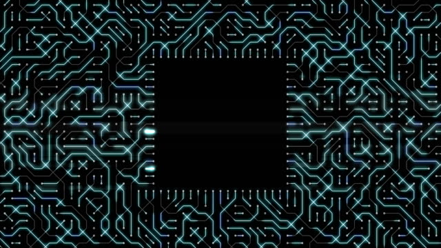 abstract technology background with circuit board loop - circuit board stock videos & royalty-free footage