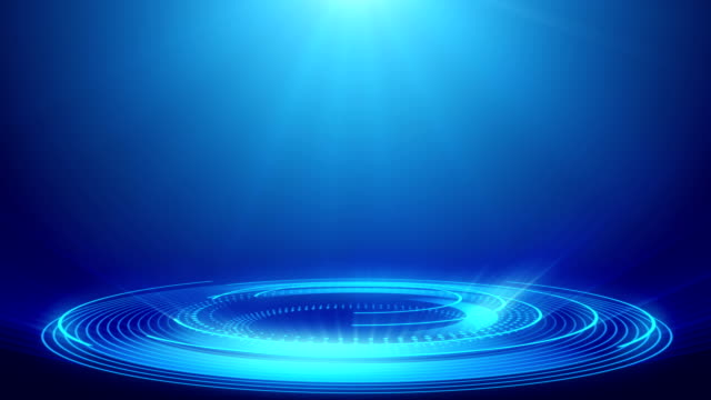 abstract technology blue spotlight backgrounds - loopable elements - 4k resolution - spotlight stock videos & royalty-free footage