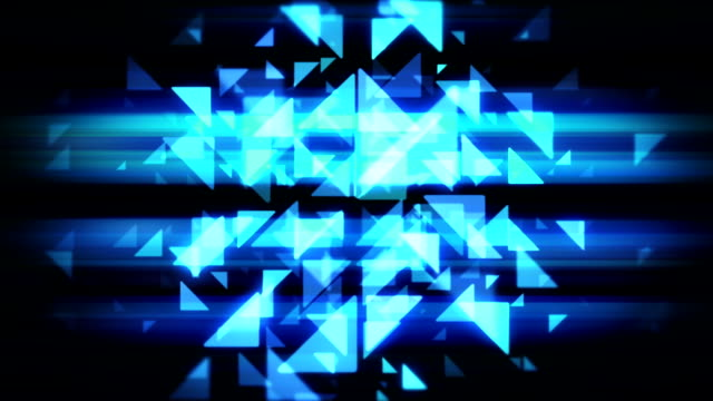 Abstract Technology blue  triangles loopable background footage