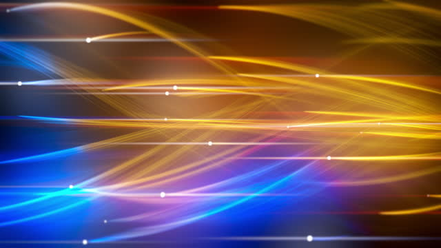 abstract technology futuristic wavy blue and gold lines - orange colour stock videos & royalty-free footage